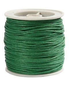 Ficelle coton, ép. 1 mm, vert, 40 m/ 1 rouleau