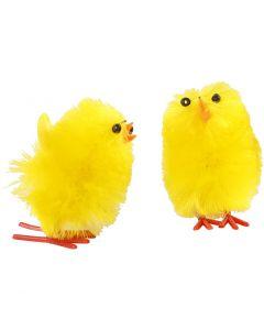 Poussins de Pâques, H: 30 mm, jaune, 12 pièce/ 1 Pq.