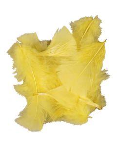 Plumes , dim. 7-8 cm, jaune, 50 gr/ 1 Pq.