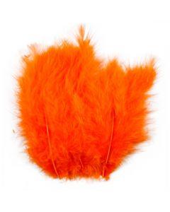 Plumes , dim. 5-12 cm, orange, 15 pièce/ 1 Pq.