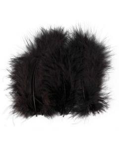 Plumes , dim. 5-12 cm, noir, 15 pièce/ 1 Pq.