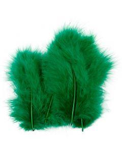 Plumes , dim. 5-12 cm, vert, 15 pièce/ 1 Pq.