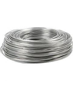 Fil d'aluminium, rond, ép. 2 mm, argent, 100 m/ 1 rouleau