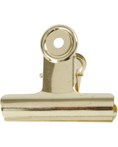 Pince métallique, L: 7,5 cm, laiton, 6 pièce/ 1 Pq.