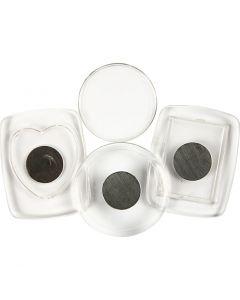Aimants pour réfrigérateur, dim. 4,5-5,5 cm, 3 pièce/ 1 Pq.