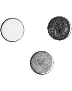 Aimants puissants, d: 5 mm, ép. 2 mm, 10 pièce/ 1 Pq.