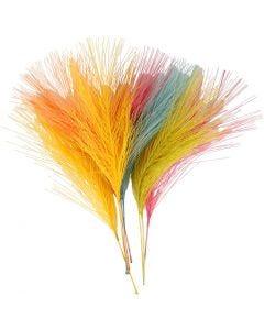 Plumes artificielles, L: 15 cm, L: 8 cm, couleurs assorties, 10 pièce/ 1 Pq.