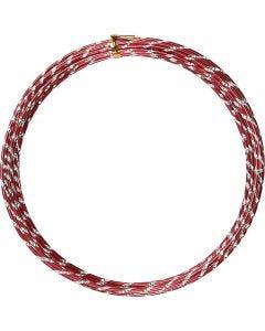 Fil d'aluminium, diamond-cut, ép. 2 mm, rouge, 7 m/ 1 rouleau