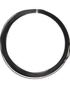 Fil d'aluminium, rond, ép. 1 mm, noir, 16 m/ 1 rouleau