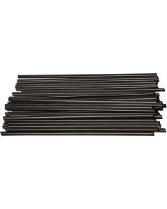 Pailles de construction, L: 12,5 cm, d: 3 mm, noir, 800 pièce/ 1 Pq.