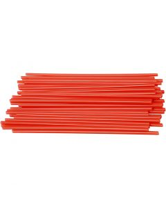 Pailles de construction, L: 12,5 cm, d: 3 mm, rouge, 800 pièce/ 1 Pq.