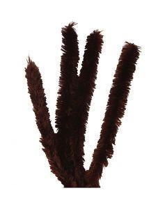 Fil chenille, L: 40 cm, ép. 30 mm, brun, 4 pièce/ 1 Pq.