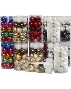 Boules de Noël, d: 6 cm, 24x20 pièce/ 1 Pq.