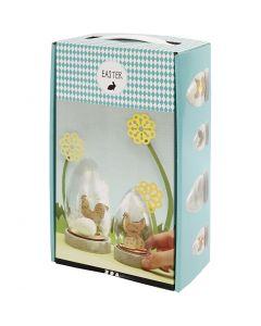 Cloches avec décoration intérieure, H: 12+15,5 cm, 2 pièce/ 1 Pq.