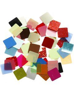 Film mosaïque, dim. 10x10 mm, couleurs assorties, 250 gr/ 1 Pq.