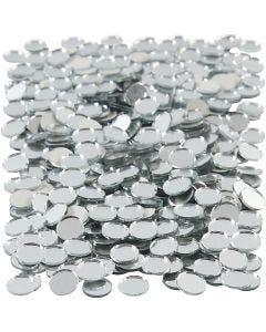 Mosaïques miroirs, rond, d: 10 mm, 500 pièce/ 1 Pq.