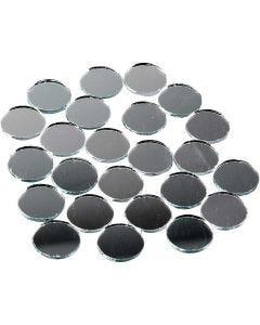 Mosaïques miroirs, rond, d: 18 mm, 400 pièce/ 1 Pq.