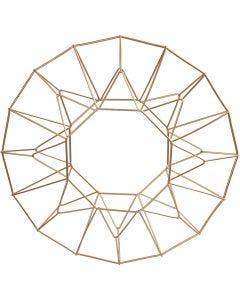 Décoration à suspendre, anneau, d: 28 cm, laiton, 1 pièce