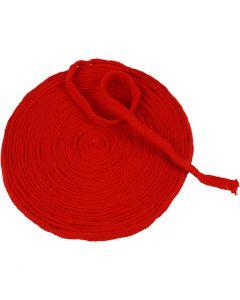 Tricot tubulaire, L: 10 mm, rouge cerise, 10 m/ 1 rouleau