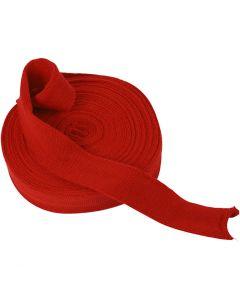 Tricot tubulaire, L: 40 mm, rouge cerise, 10 m/ 1 rouleau