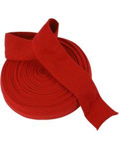 Tricot tubulaire, L: 60 mm, rouge cerise, 10 m/ 1 rouleau