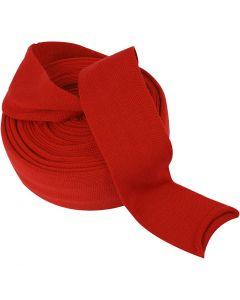 Tricot tubulaire, L: 80 mm, rouge cerise, 10 m/ 1 rouleau