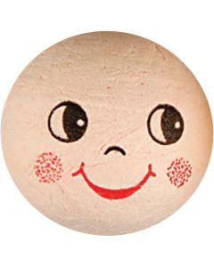 Boules d'ouate avec visages, 10 pièce/ 1 Pq.