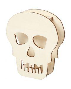 Crâne, H: 13,5 cm, prof. 3 cm, L: 11,5 cm, 1 pièce