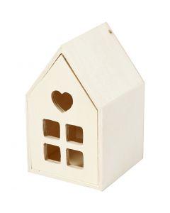 Maison avec tiroir, H: 10,8 cm, prof. 6,8 cm, 1 pièce