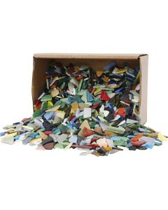 Mosaïques, dim. 8-20 mm, couleurs assorties, 2 kg/ 1 Pq.