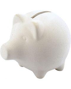 Tirelires cochon, H: 9 cm, L: 11 cm, 10 pièce/ 1 boîte