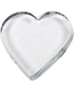 Coeur, dim. 9x9 cm, ép. 15 mm, 1 pièce