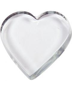 Coeur, dim. 9x9 cm, ép. 15 mm, 10 pièce/ 1 boîte