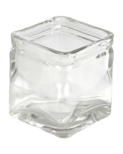 Chandeliers carrés, H: 5,5 cm, dim. 5,5x5,5  cm, 12 pièce/ 1 boîte