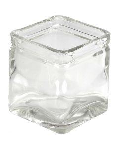Chandeliers carrés, H: 8 cm, dim. 7,5x7,5 cm, 12 pièce/ 1 boîte