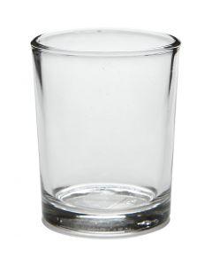 Bougeoir pour bougie chauffe-plat, H: 6,5 cm, d: 4,5-5,5 cm, 120 ml, 12 pièce/ 1 boîte
