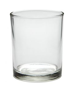 Bougeoir pour bougie chauffe-plat, H: 8,4 cm, d: 7 cm, 240 ml, 12 pièce/ 1 boîte