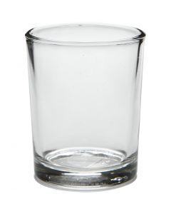 Bougeoir pour bougie chauffe-plat, H: 6,5 cm, d: 4,5 cm, 4 pièce/ 1 Pq.