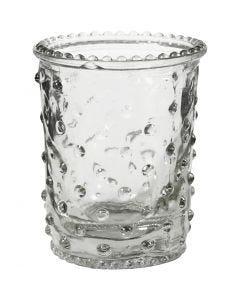 Bougeoir pour bougies chauffe-plat, H: 7,8 cm, d: 6,4 cm, 100 ml, 6 pièce/ 1 boîte