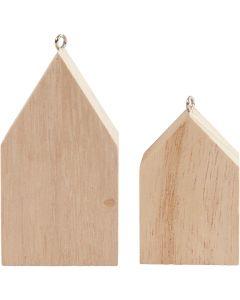Maison avec suspension, H: 4,5+6,5 cm, 30 pièce/ 1 Pq.