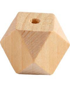 Perle en forme de diamant, L: 20 mm, diamètre intérieur 3 mm, 6 pièce/ 1 Pq.