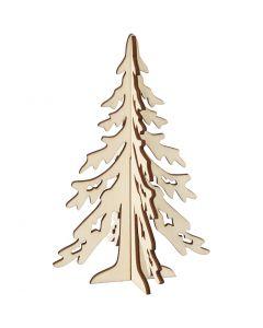 Sapin de Noël, H: 20 cm, L: 13 cm, 1 pièce