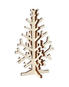 Sapin de Noël, H: 12 cm, L: 7,5 cm, 1 pièce