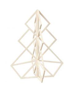 Sapin de Noël, H: 60 cm, L: 48 cm, 1 pièce