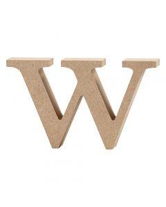 Lettre, w, H: 8 cm, ép. 2 cm, 1 pièce