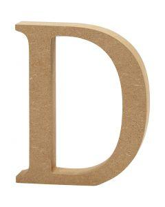 Lettre, D, H: 13 cm, ép. 2 cm, 1 pièce