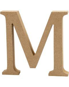 Lettre, M, H: 13 cm, ép. 2 cm, 1 pièce
