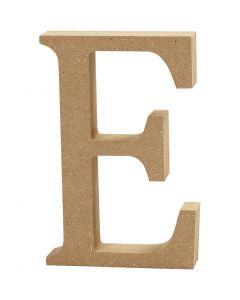 Lettre, E, H: 8 cm, ép. 1,5 cm, 1 pièce