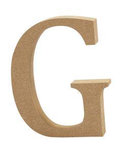 Lettre, G, H: 8 cm, ép. 1,5 cm, 1 pièce