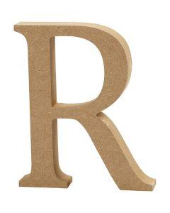 Lettre, R, H: 8 cm, ép. 1,5 cm, 1 pièce